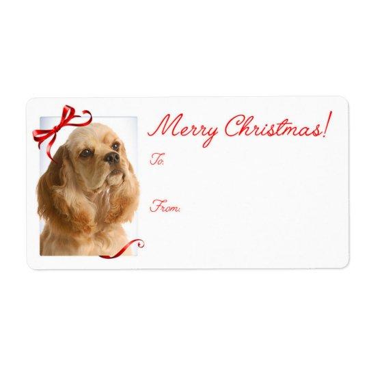 Cocker Spaniel Christmas Gift Stickers