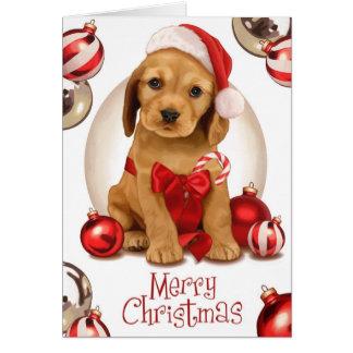 Cocker Spaniel Christmas Greeting Card