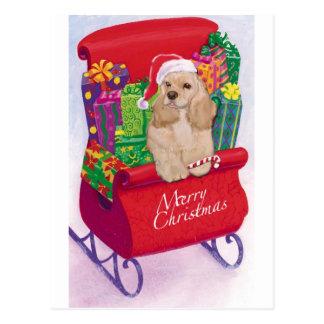 Cocker Spaniel Christmas Postcard