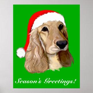 Cocker Spaniel Christmas Poster