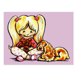 Cocker Spaniel Comforter Off-Leash Art™ Child Art Postcard