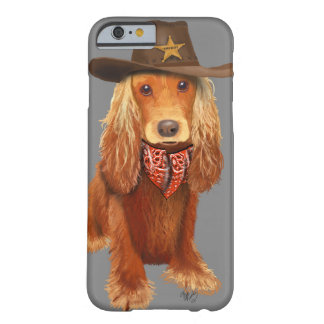Cocker Spaniel Cowboy Barely There iPhone 6 Case