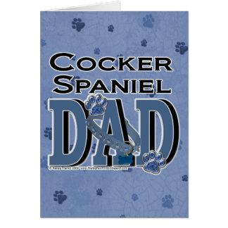 Cocker Spaniel DAD Greeting Card
