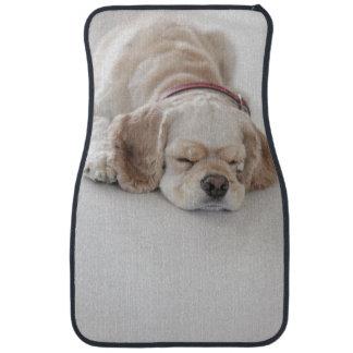 Cocker spaniel dog sleeping car mat