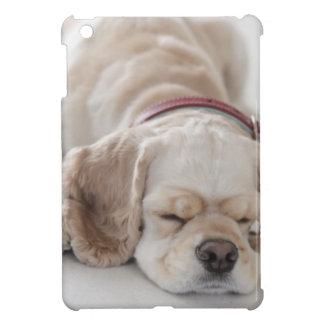 Cocker spaniel dog sleeping case for the iPad mini