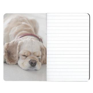 Cocker spaniel dog sleeping journals