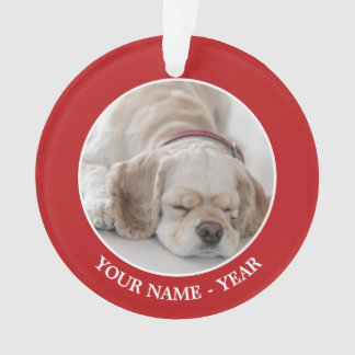 Cocker spaniel dog sleeping ornament