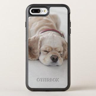 Cocker spaniel dog sleeping OtterBox symmetry iPhone 7 plus case