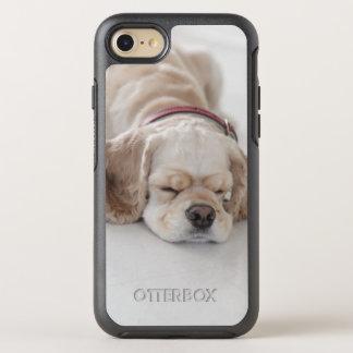 Cocker spaniel dog sleeping OtterBox symmetry iPhone 8/7 case