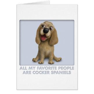 Cocker Spaniel Favorite Greeting Card