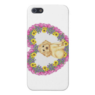 Cocker Spaniel Floral iPhone 5 Case