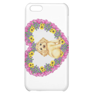 Cocker Spaniel Floral Cover For iPhone 5C