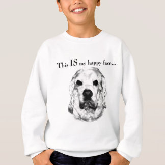 Cocker Spaniel Happy Face Sweatshirt
