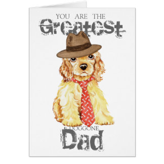 Cocker Spaniel Heart Dad Card