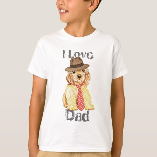 Cocker Spaniel Heart Dad T-Shirt