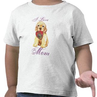 Cocker Spaniel Heart Mom T-shirts