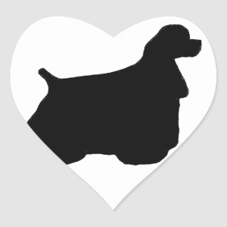 cocker spaniel heart sticker