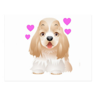 Cocker Spaniel Love Postcard