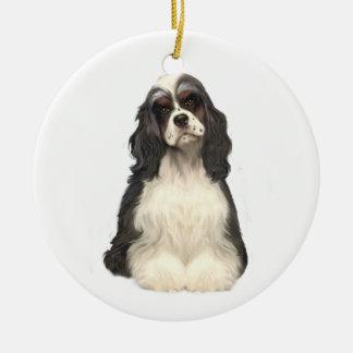 Cocker Spaniel - parti colored Christmas Ornament