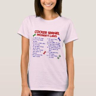 COCKER SPANIEL Property Laws 2 T-Shirt