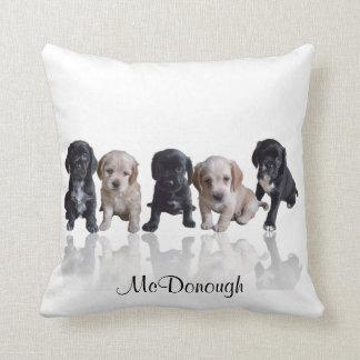 Cocker Spaniel Puppies Throw Cushions