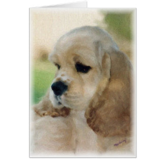 Cocker Spaniel Puppy card