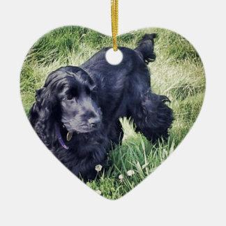 Cocker Spaniel Puppy Ceramic Heart Decoration