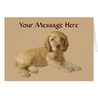 Cocker Spaniel Puppy Greeting Card