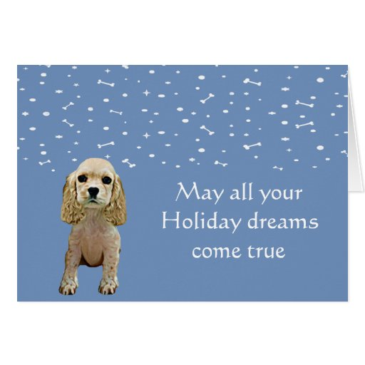 Cocker Spaniel Puppy Holiday Card