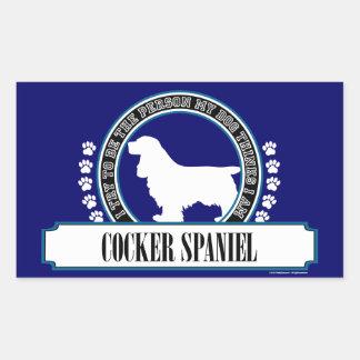 COCKER SPANIEL RECTANGULAR STICKER