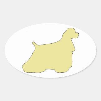 Cocker Spaniel silhouette Oval Sticker