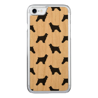 Cocker Spaniel Silhouettes Pattern Carved iPhone 7 Case