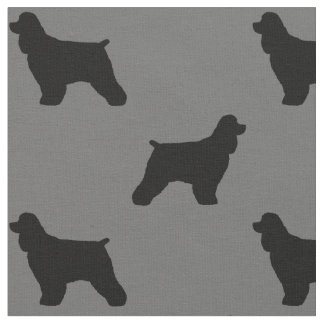 Cocker Spaniel Silhouettes Pattern Fabric