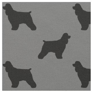 Cocker Spaniel Silhouettes Pattern Fabric