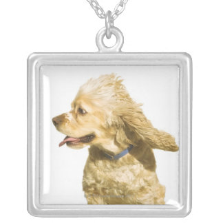 Cocker Spaniel Silver Plated Necklace