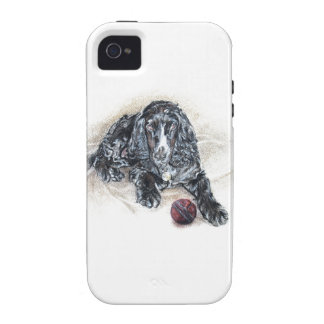 Cocker Spaniel with Cricket Ball painting Case-Mate iPhone 4 Covers