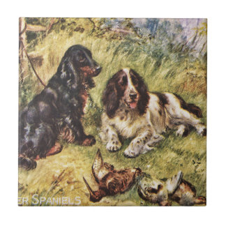 Cocker Spaniels Small Square Tile