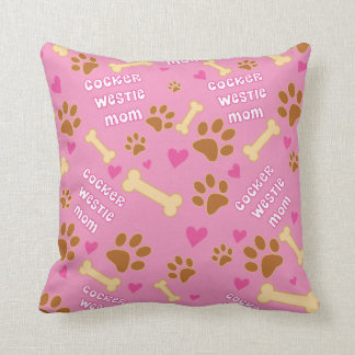 Cocker Westie Dog Breed Mom Gift Idea Throw Cushion