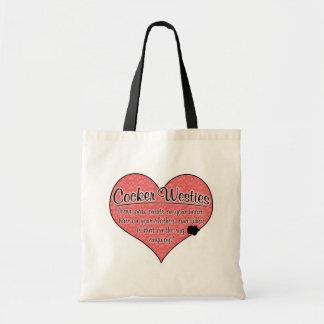 Cocker Westie Paw Prints Dog Humor Tote Bag