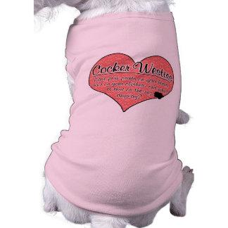 Cocker Westie Paw Prints Dog Humor Dog Tshirt
