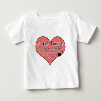 Cocker Westie Paw Prints Dog Humor Shirt