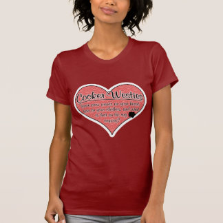 Cocker Westie Paw Prints Dog Humor Tee Shirts