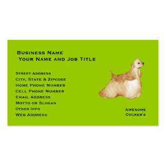 Cockers Spaniel Custom Profile/Business Card Pack Of Standard Business Cards