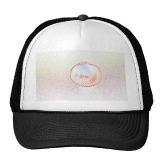 cockle shell invert outline seashell design trucker hat