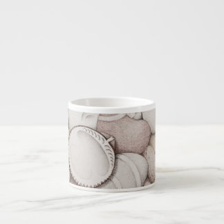 Cockle Shells & Pebbles in Pencil Espresso Mug