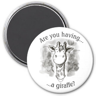 Cockney Rhyming Slang Jolly Giraffe 7.5 Cm Round Magnet