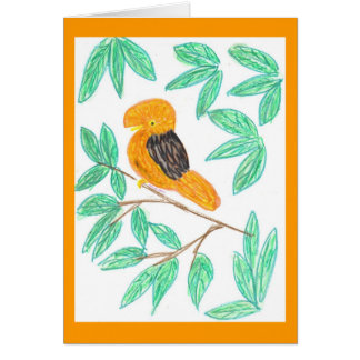 CockOdaRock Parrot Art Card