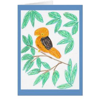 CockOdaRock Parrot Art Greeting Card