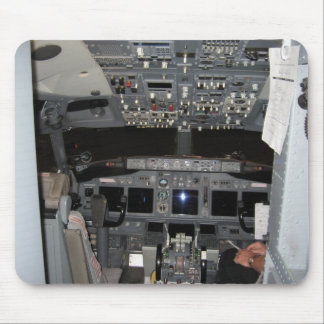 Cockpit Jet Aircraft Mouse Pad