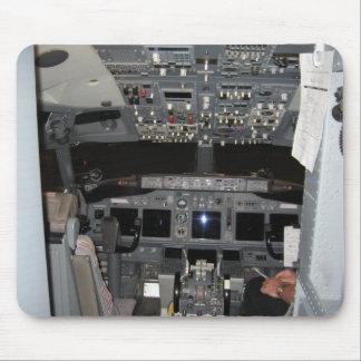 Cockpit Jet Aircraft Mouse Pads